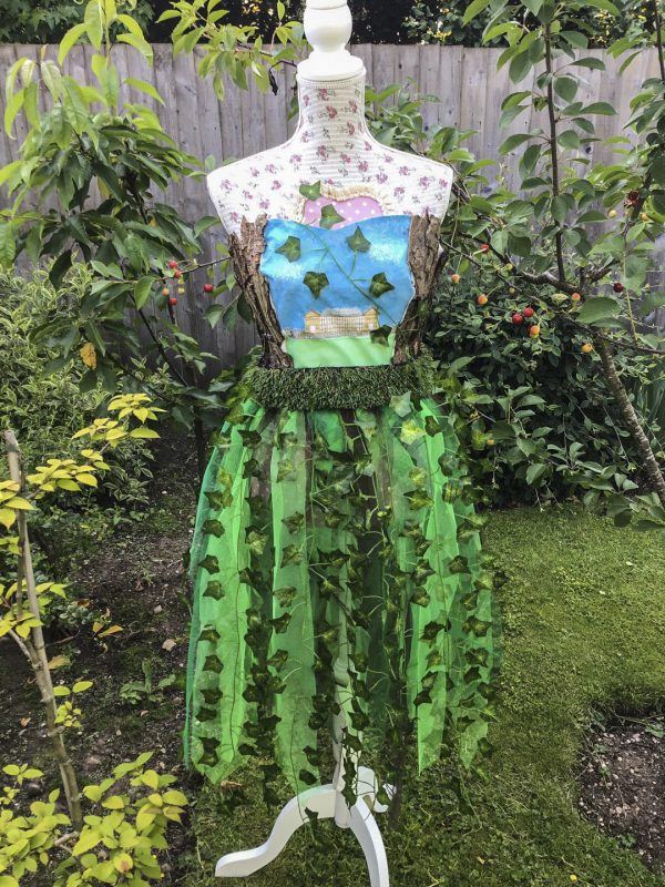 a dress which tells the story of Ingestre Hall