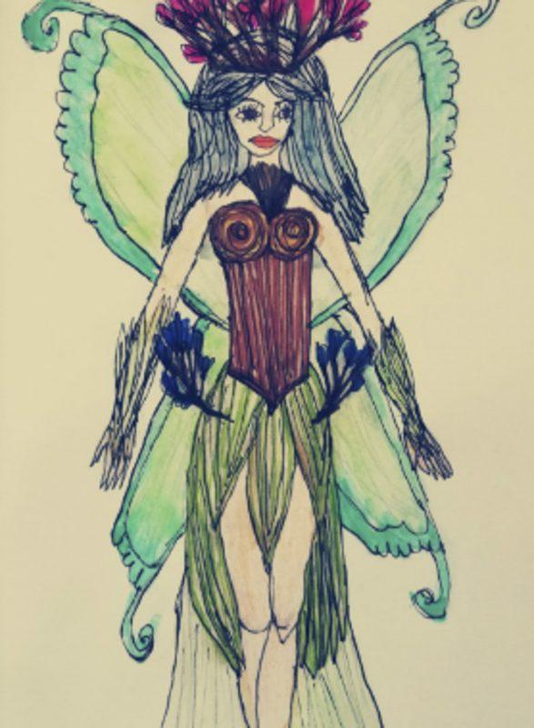 A fairy costume design
